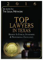 2016 Top Lawyers in texas